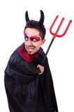 Man in devil costume Stock Photo
