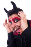 Man in devil costume Stock Photography