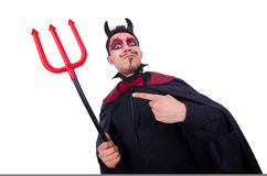 Man in devil costume Royalty Free Stock Image