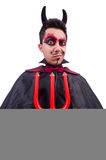 Man in devil costume Stock Photo