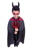 Man in devil costume Royalty Free Stock Photos