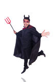 Man in devil costume Stock Images