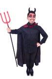 Man in devil costume Royalty Free Stock Image