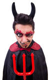 Man in devil costume Stock Image