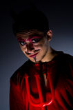 Man in devil costume Royalty Free Stock Photography