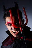 Man in devil costume Royalty Free Stock Images