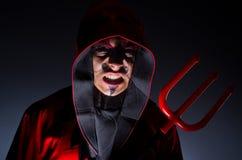 Man in devil costume Royalty Free Stock Photo