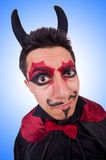 Man in devil costume in halloween Royalty Free Stock Image