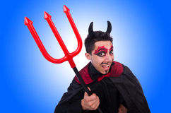 Man in devil costume in halloween Stock Image