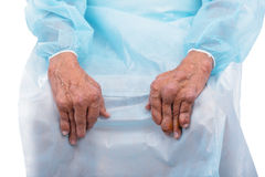 Man with a diagnosis of polyarthritis. Royalty Free Stock Photography