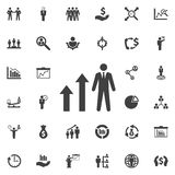 Man diagram arrow Icon. Royalty Free Stock Image