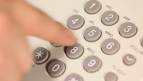 Man dials a phone number stock footage