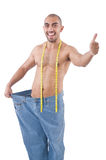 Man in dieting concept Stock Images