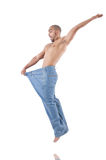 Man in dieting concept Royalty Free Stock Photo