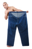 Man in dieting concept Stock Photography