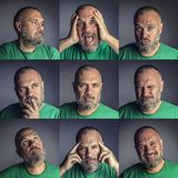 Man different expression stock images