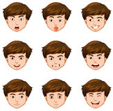 Man with different facial expressions Stock Photo