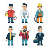 Man of different professions. Set. Separate men on a white background Royalty Free Stock Images