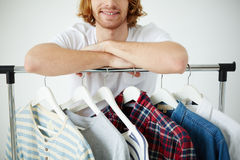 Man with different shirts Stock Image