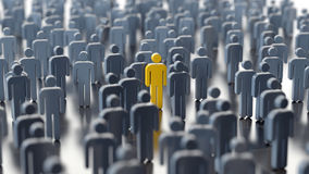 Man differs from the crowd Royalty Free Stock Photography