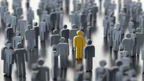 Man differs from the crowd Stock Photo