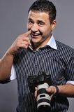 Man with a digital camera Royalty Free Stock Photos