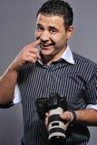 Man with a digital camera Royalty Free Stock Photos