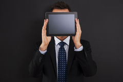 Man with digital tablet Stock Image