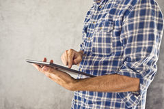 Man with digital tablet computer Royalty Free Stock Images