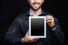 Man with digital tablet Royalty Free Stock Images