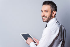 Man with digital tablet. Stock Photography