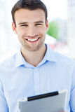 Man with digital tablet Stock Photo