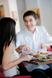 Man Dining with Partner Royalty Free Stock Photo