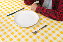 Man at the dinner table Royalty Free Stock Images