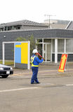 Man directing traffic 2 Royalty Free Stock Images