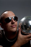 Man with disco ball Stock Photos