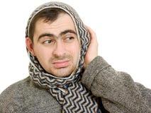 A man with a diseased ears Stock Photos
