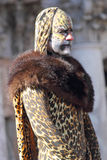 Man disguised as a leopard during the Carnival of Venice Stock Photo