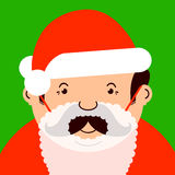Man disguised as santa Stock Photography