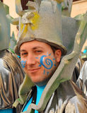 Man disguised, Carnival of Cadiz, Andalusia, Spain Stock Image