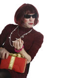 A man disguised in a woman Stock Photography