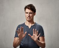Man disgusted Stock Photography