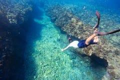 Man diving Royalty Free Stock Photos