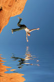 Man diving. Into the water Royalty Free Stock Photos