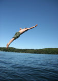 Man diving Stock Images