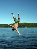 Man diving Stock Photo