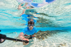Man diving Stock Image