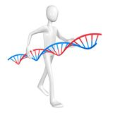 Man and DNA. Royalty Free Stock Images