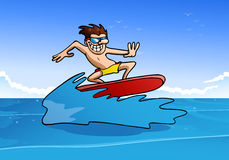 Man do funky surfing Royalty Free Stock Photo