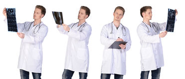 Man doctor group Royalty Free Stock Images